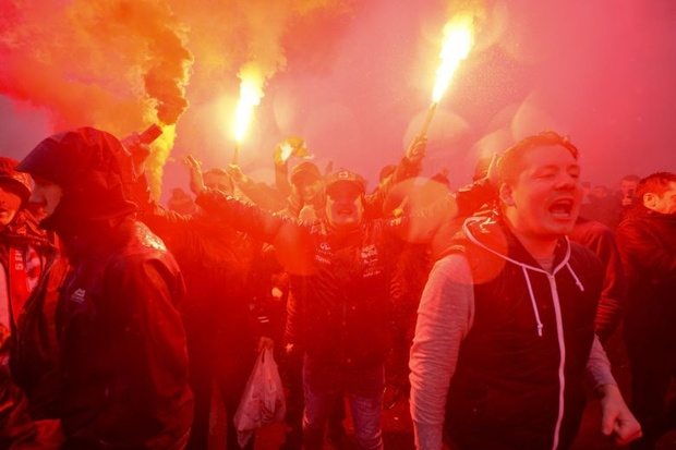 Liverpool supporters gear up for the Champions League semi final against AS Roma