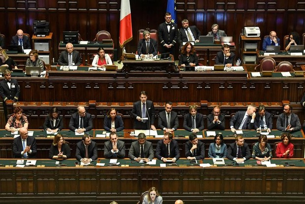 Italy's Conte pitches new government before Parliament votes