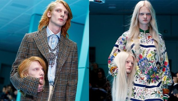 Milan Fashion Week: Models carry fake heads on Gucci catwalk