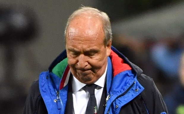 Italy coach Ventura sacked after missing World Cup berth