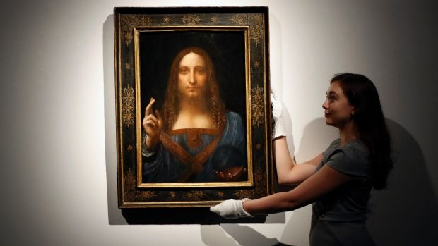 Leonardo da Vinci's 'Salvator Mundi' sells for all-time auction record $450M