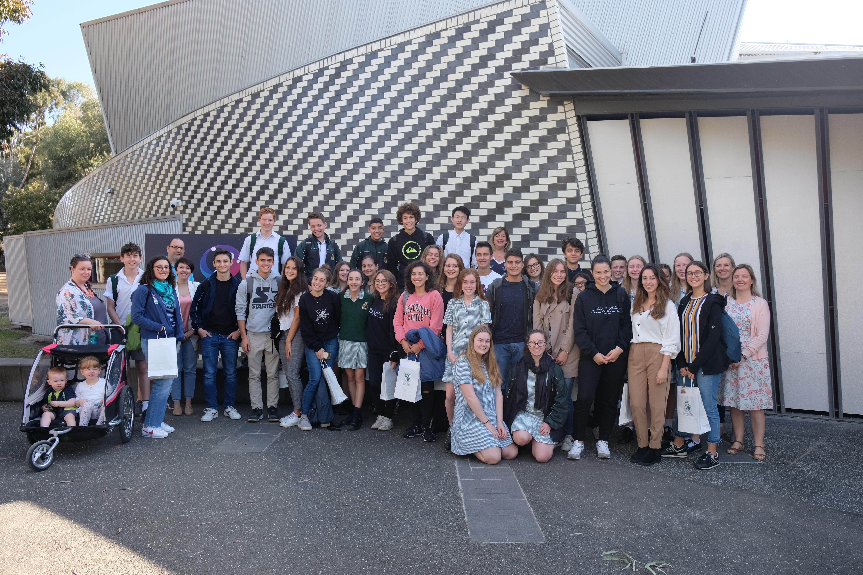 Luigi Galvani High School students visit Strathmore Secondary